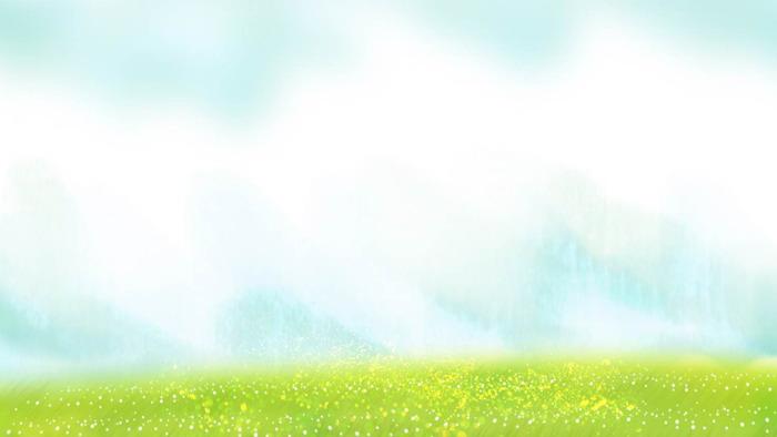 淡雅卡通绿色草地PPT背景图片