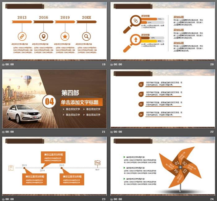 汽车展示销售服务PPT模板