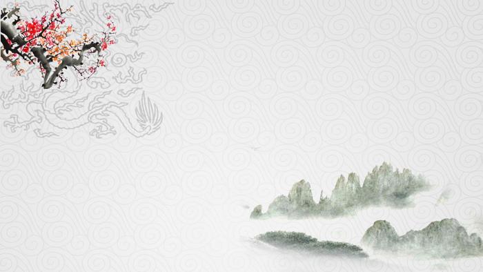 三张雅致中国风PPT背景图片