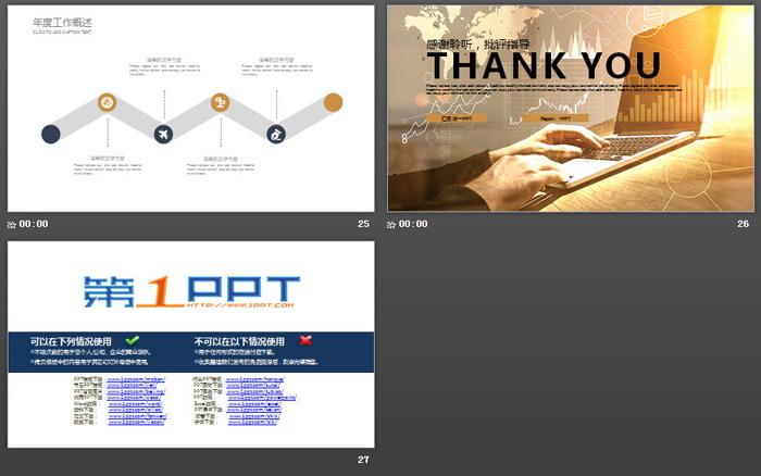电脑股票背景的金融投资PPT模板 - 第一PPT