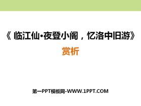 《临江仙·夜登小阁,记洛中旧游》PPT课件