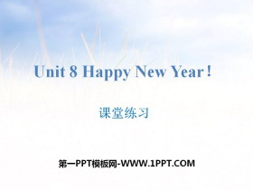 《Happy New Year!》课堂练习PPT