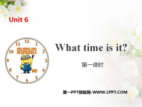 《What time is it?》PPT(第一�n�r)