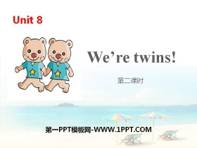 《We're twins》PPT(第二课时)