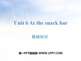 《At the snack bar》基础知识PPT