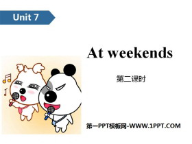 《At weekends》PPT(第二课时)
