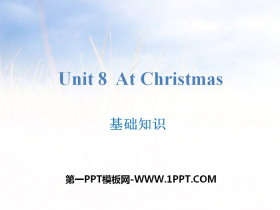 《At Christmas》基础知识PPT