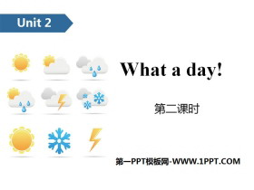 《What a day!》PPT(第二课时)