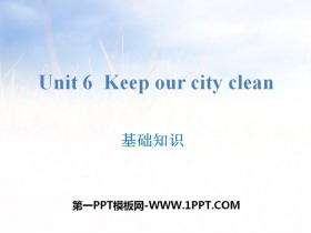 《Keep our city clean》基础知识PPT