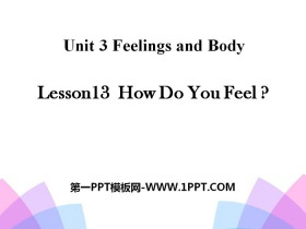 《How Do You Feel?》Feelings and Body PPT