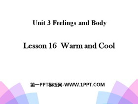 《Warm and Cool》Feelings and Body PPT