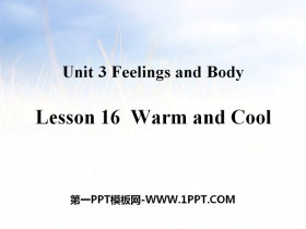 《Warm and Cool》Feelings and Body PPT教学课件
