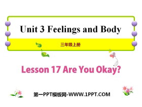《Are You Okay?》Feelings and Body PPT课件