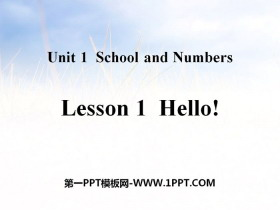 《Hello!》School and Numbers PPT教学课件