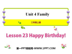 《Happy Birthday!》Family PPT�n件
