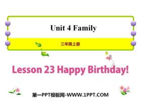《Happy Birthday!》Family PPT�n件