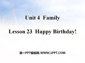 《Happy Birthday!》Family PPT教学课件