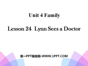 《Lynn Sees a Doctor》Family PPT