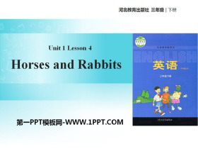 《Horses and Rabbits》Animals on the Farm PPT�n件