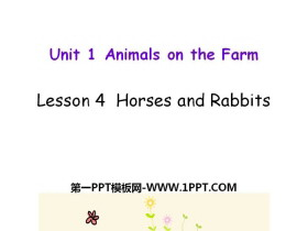 《Horses and Rabbits》Animals on the Farm PPT教学课件