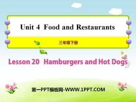 《Hamburgers and Hot Dogs》Food and Restaurants PPT