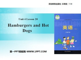 《Hamburgers and Hot Dogs》Food and Restaurants PPT课件