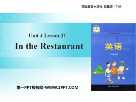 《In the Restaurant》Food and Restaurants PPT�n件