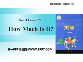 《How much is it?》Food and Restaurants PPT�n件