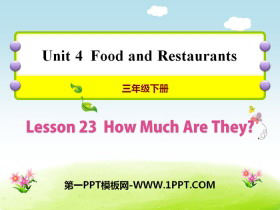《How much are they?》Food and Restaurants PPT