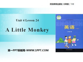《A little monkey》Food and Restaurants PPT