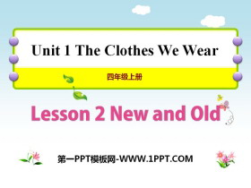 《New and Old》The Clothes We Wear PPT