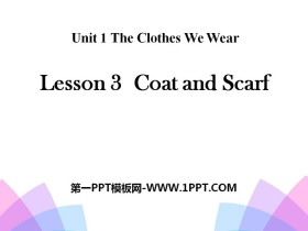 《Coat and Scarf》The Clothes We Wear PPT