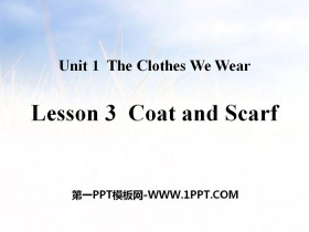 《Coat and Scarf》The Clothes We Wear PPT课件