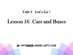 《Cars and Buses》Let's Go! PPT
