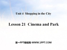 《Cinema and Park》Shopping in the City PPT教�W�n件