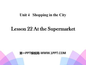 《At the Supermarket》Shopping in the City PPT