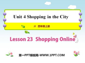 《Shopping Online》Shopping in the City PPT�n件