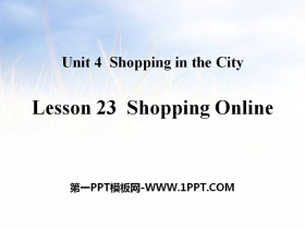 《Shopping Online》Shopping in the City PPT教学课件
