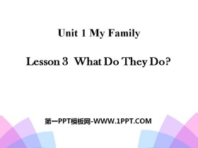 《What Do They Do?》My Family PPT