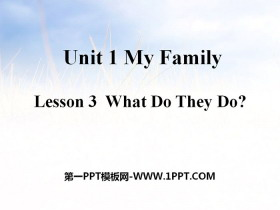 《What Do They Do?》My Family PPT课件