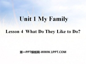 《What Do They Like to Do?》My Family PPT课件