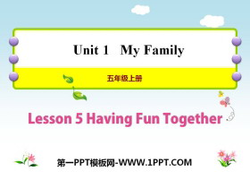 《Having Fun Together》My Family PPT教学课件