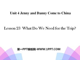 《What Do We Need for the Trip?》Jenny and Danny Come to China PPT