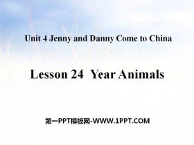 《Year Animals》Jenny and Danny Come to China PPT�n件