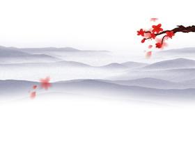 六张水墨江南水乡PPT背景图片