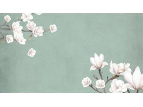 四��唯美��g花卉幻�羝�背景�D片