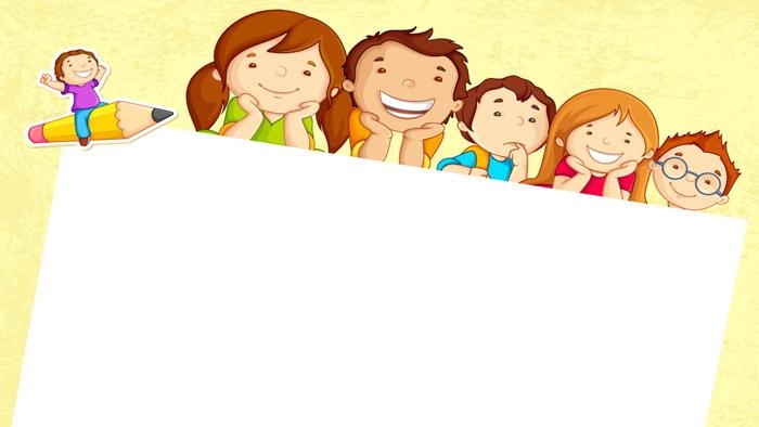 三张可爱卡通儿童PPT背景图片