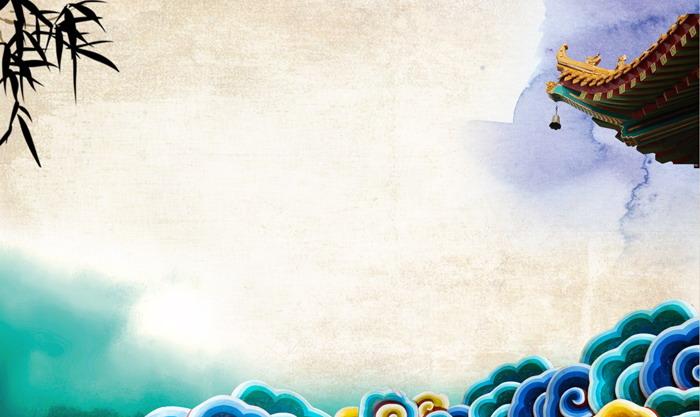 三张彩色水彩古典PPT背景图片