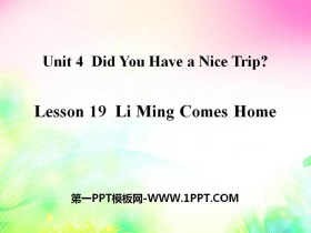 《Li Ming Comes Home》Did You Have a Nice Trip? PPT