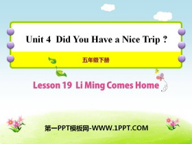 《Li Ming Comes Home》Did You Have a Nice Trip? PPT课件
